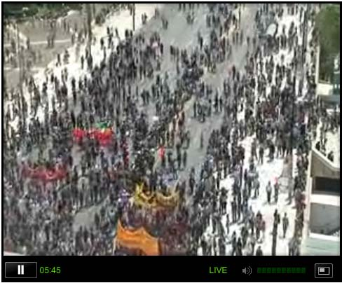 Live Feed From Athens As 100,000 Greeks Go On Strike, Consider Storming Parliament Again  greekcrowd