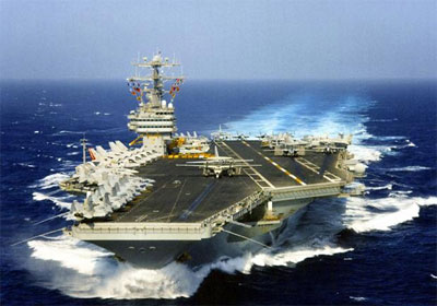 Armada of U.S. and Israeli Warships Head for Iran  aircraftcarrier