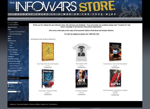 New Infowars Store Now Online  infowars storeimage