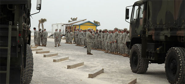 Oblivious to Oil in Mississippi, Possible Troops in Louisiana  troopsdeployed