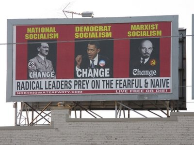 Iowa Tea Party Group Backs Down on Obama Lenin Hitler Billboard  billboard3