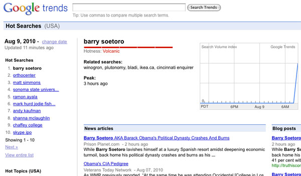 "President Obama's Real Name ""Barry Soetoro"" Tops Google Trends 09soetoro"