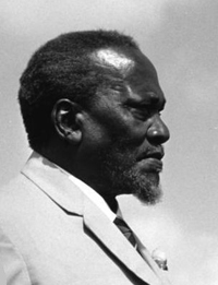 Jomo Kenyatta, first President of Kenya.