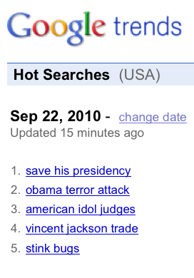 Google Trends #1 Hot Search 'Save His Presidency'  savepresidency3