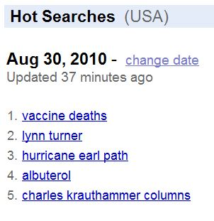 'Vaccine Deaths' Reaches Top of Google Trends