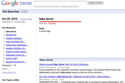 Obama 'Fake Terror' Alert Story Hits #1 on Google  29fake terror trends