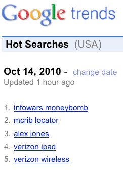 Moneybomb Search Terms Skyrocket to Top of Google Trends  mbtrends