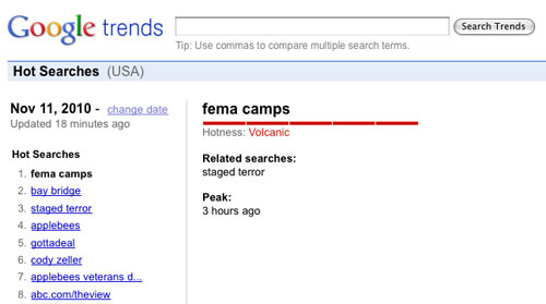 'FEMA camps' tops Google Trends as TruTV exposé set to air  11fema trends