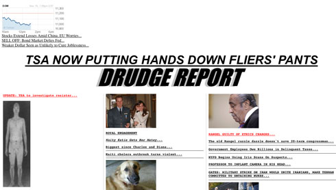Infowars TSA Abuse Story Number 1 Worldwide 16drudge