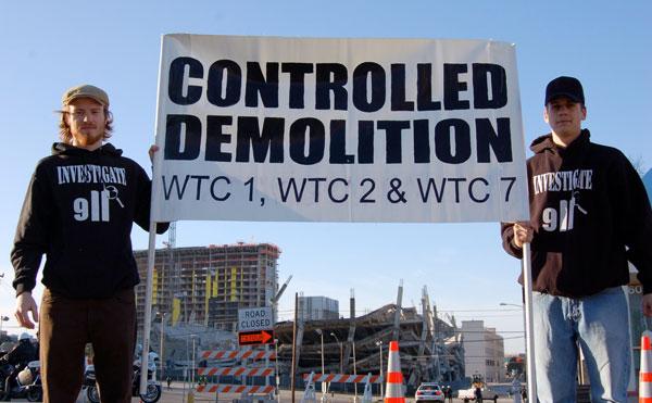 PNACitizens take 9/11 truth to Austin demolition