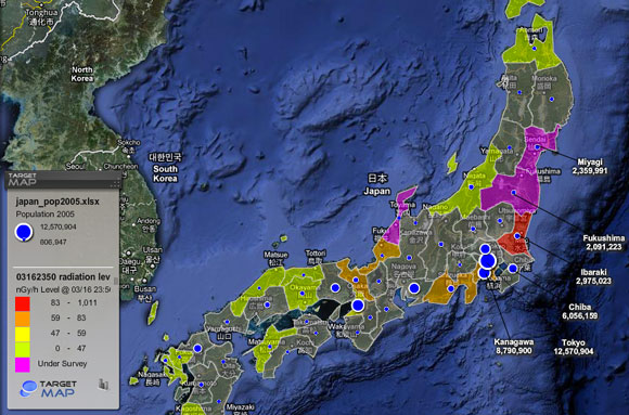 Massive Cover Up Of Radiation Levels In Fukushima Prefecture radmap