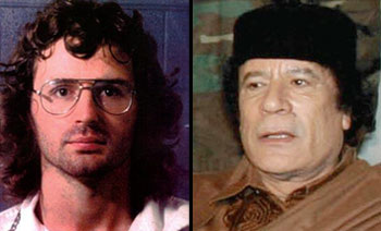 David Koresh, leader of Branch Dividians at Waco (left) and Muammar Gaddafi, Libyan dictator (right), both seemingly justified invasion under a