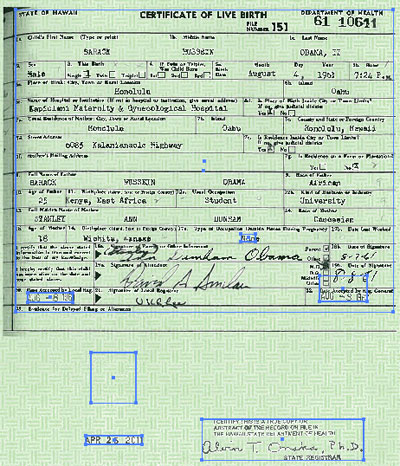 New Obama Birth Certificate is a Forgery  obamabreakout