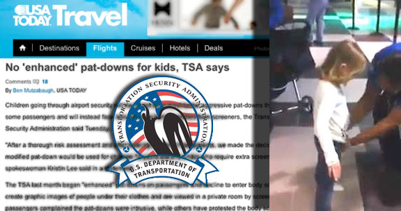 Busted: TSA lied about promise to not pat-down children