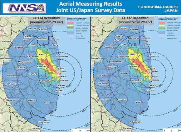 The Latest Joint Us And Japan Survey Shows Extremely High Levels Of Nuclear Radioactive Contamination With Radiation Levels Higher Than Cheryl