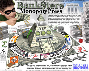 Banksters Monopoly - ConspiracyCards.com