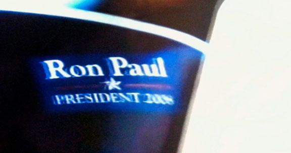 Still from Episode 4 of AMC's Breaking Bad, depicting Meth Lab Druglord as Ron Paul Supporter.