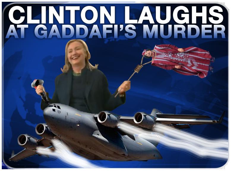 Hillary Laughs at Gaddafi's Death