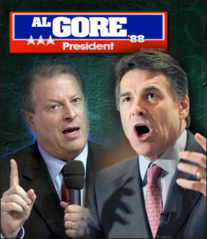 Al Gore teamed with Rick Perry back in '88