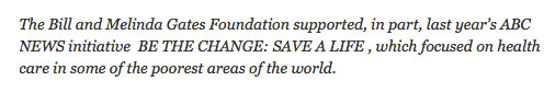 ABC News sponsored by Bill & Melinda Gates Foundation.