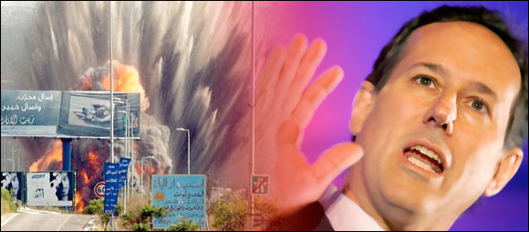 Santorum: Eradicate the Muslims sanbomb