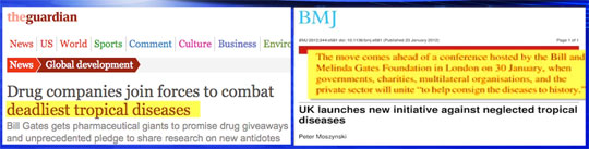 Biased? Paid Media Partners Praise Vaccine, GMO Programs Led by Bill Gates telegraph bmj tropical diseases