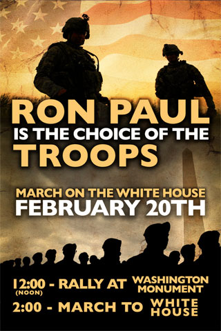 Active Duty Troops to March on White House ronpaultroops