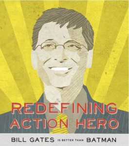 Super Hero: Comic Book Paints Eugenicist Bill Gates as a Savior Bill Gates Better Than Batman 265x300