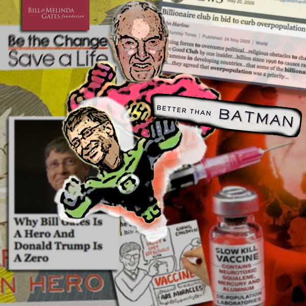 Super Hero: Comic Book Paints Eugenicist Bill Gates as a Savior Bill Gates David Rockefeller Slow Kill Super Heroes