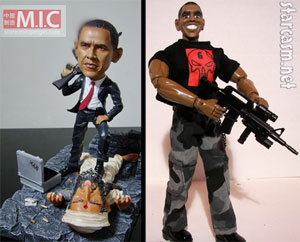 Obama/Bin Laden 2012: Re Elect the Stoic, Heroic Killer obama killed osama action hero