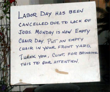 chairday Labor Day cancelled, Empty Chair Day goes viral