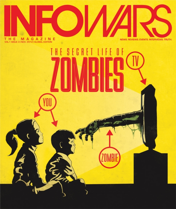 Alex Jones Attacked By Zombies!  zombienovcover