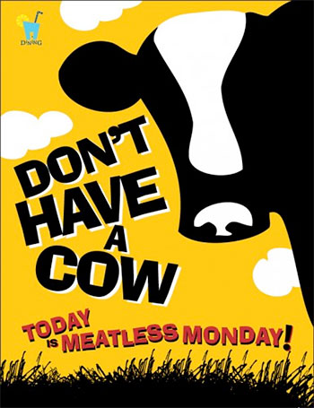 Los Angeles City Council Pushes Globalist Vegan Agenda Under Meatless Mondays  meatlessposter