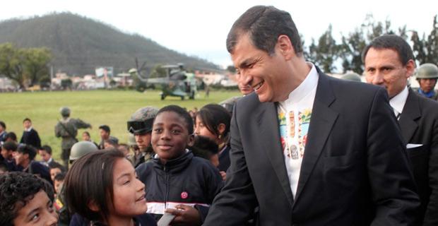 Ecaudorian President Rafael Correa, source Wikimedia commons