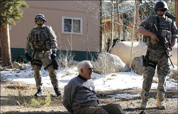 Combat Cops Evict Homeowner in Colorado seniorcol