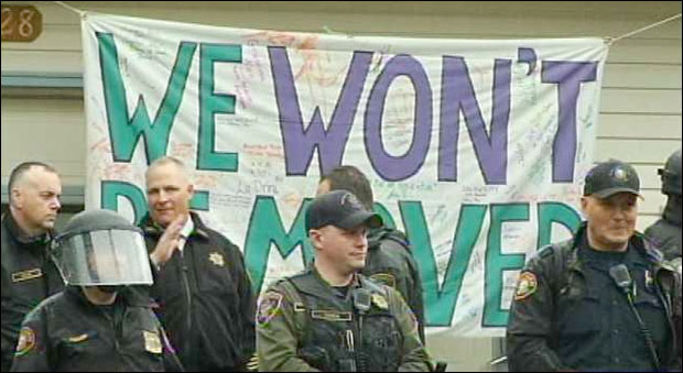 Combat Cops Evict Homeowner in Colorado wewont