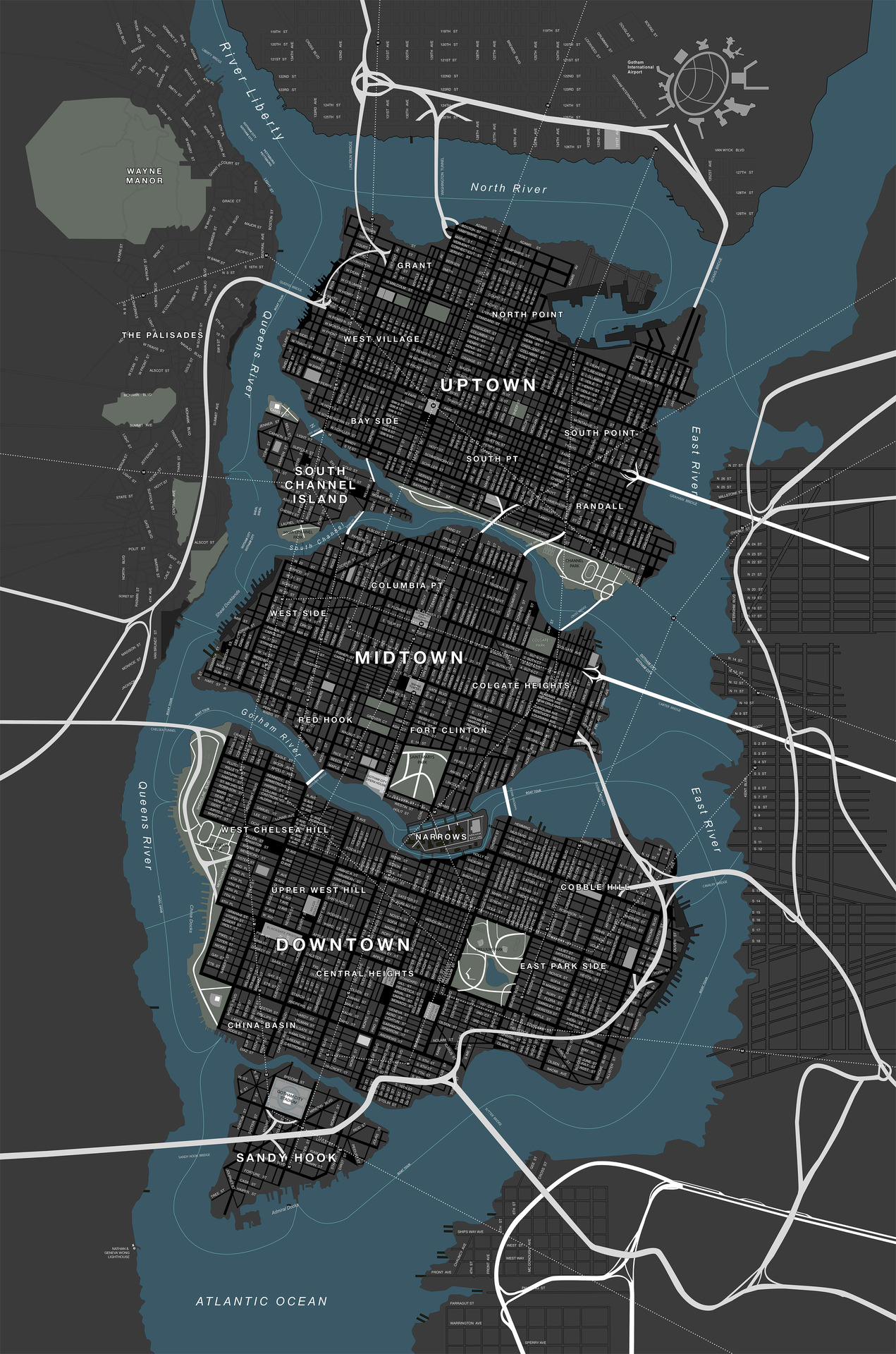 CONFIRMED Section Of Gotham Renamed Sandy Hook In Latest Dark - Washington dc map conspiracy