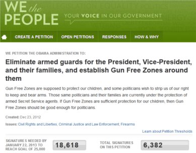 Petition Proposes Gun Free Zone for School Presidents Daughters Attend petitionsc