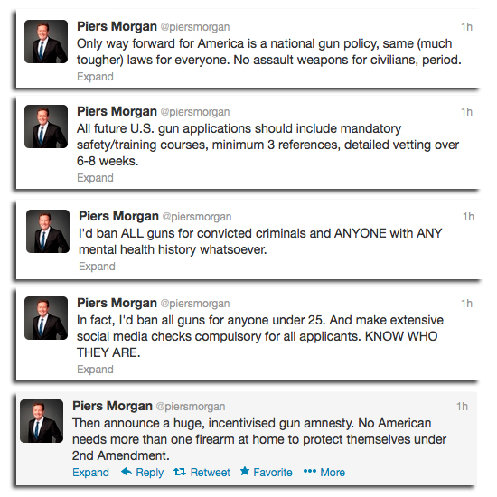 Piers Morgan Wants to Eviscerate the 2nd Amendment pierstweets