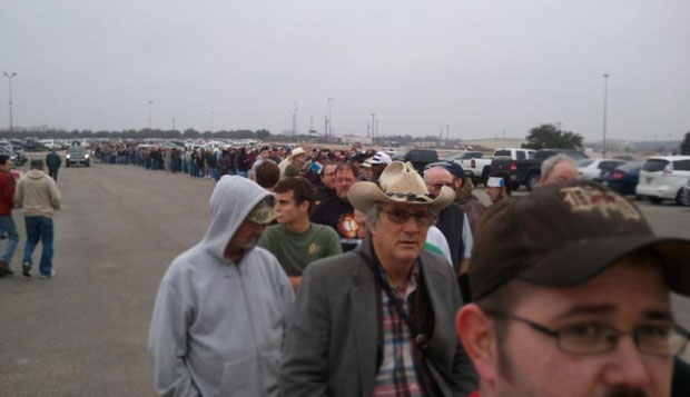 Record Line Outside Austin Gun Show austin gun show long line 5