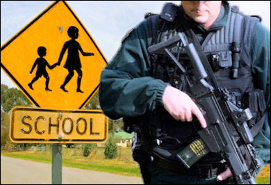 Biden Task Force to Recommend More Armed Cops in Schools schoolcop3