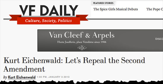 Vanity Fair: Lets Repeal the Second Amendment vanity