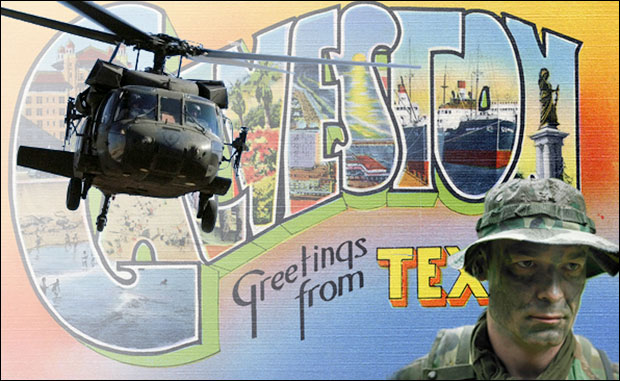 Army Invades Galveston, Texas welcomegalveston