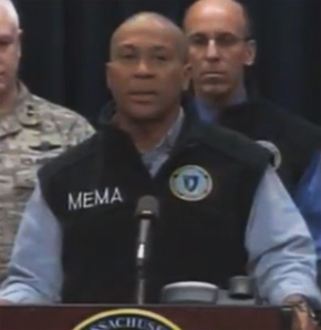 Massachusetts Bans Travel Under State of Emergency deval patrick mema