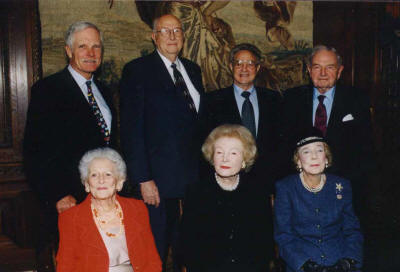 Billionaires for Population Control: Bill Gates, Sr. (2nd from left), co-chair of the Bill and Melinda Gates Foundation and father of the Microsoft founder, is pictured next to Ted Turner, George Soros and David Rockefeller.