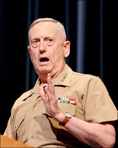 Top u s commander says it is possible to bring iran to for General mattis tattoo