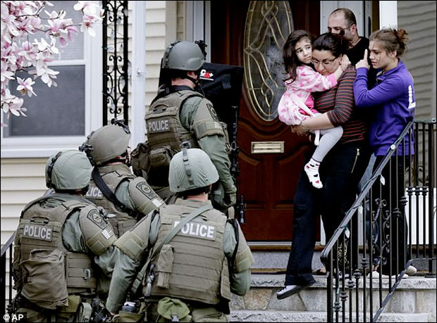 Video: SWAT police gunpoint raids in Boston Were Conducted House After House bostonmil5