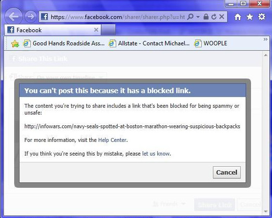 Facebook Blocks Infowars Post on Suspicious Men Wearing Backpacks facebookblock4