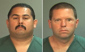 Fullerton Police Officer Manuel Ramos, left, and Police Corporal Jay Cicinelli.