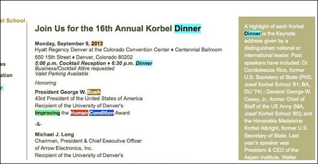 Screen capture from University of Denver's Josef Korbel School.